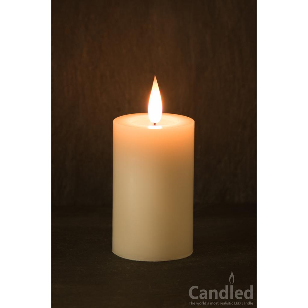 Pillar Led Candle 4 Quot X 2 5 Quot Diameter Candled