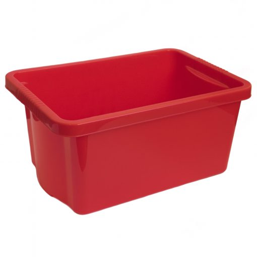 Candled storage box (red)