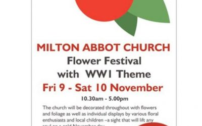 Milton Abbot Church organised a very special Remembrance Day Flower Festival
